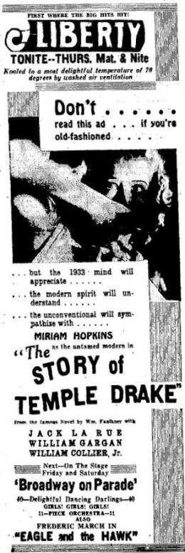 Published June 28 1933 in the Benton Harbor News Palladium