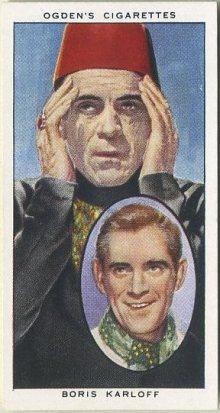 Boris Karloff 1938 Ogdens Tobacco Card