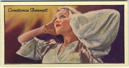 Constance Bennett 1935 Carreras Film Stars Tobacco Card