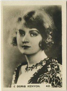 Doris Kenyon 1932 Hill tobacco card