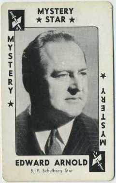 Edward Arnold 1938 Movie Millions Game Card