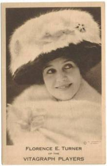 Florence Turner 1911 Vitagraph Players Postcard
