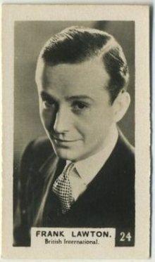 Frank Lawton 1934 Bridgewater Trading Card
