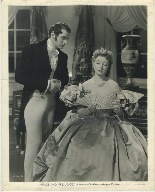 Laurence Olivier and Greer Garson on Pride and Prejudice Still Photo