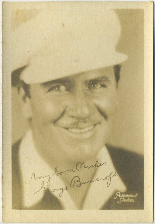 George Bancroft 1920s 5x7 Fan Photo
