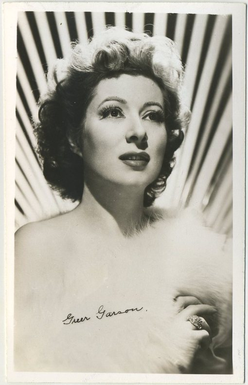 Greer Garson 1940s era EKC Real Photo Postcard