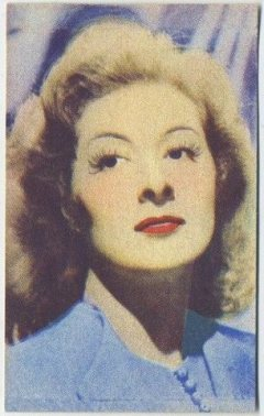 Greer Garson 1951 Artisti del Cinema Trading Card