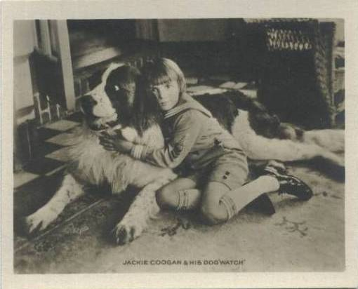 Jackie Coogan from a 1923 Trading Card set showing Movie Stars at Home