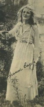 Jeanne Eagels on 1910s Kinema Theatre Trading Card