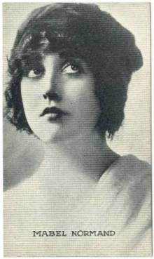 Mabel Normand 1917 Kromo Gravure Trading Card