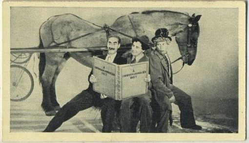 Marx Brothers 1940 A and M Wix Cinema Cavalcade Tobacco Card