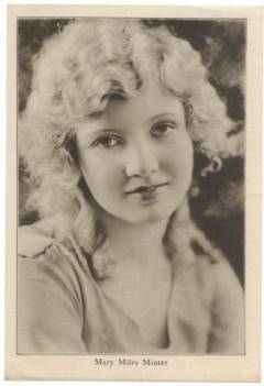 Mary Miles Minter 1920s Picturegoer Supplement Photo