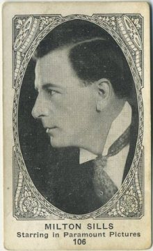 Milton Sills 1920s American Caramel trading card