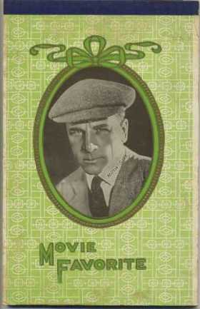 Milton Sills on the cover of a Writing Tablet in the 1920s