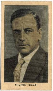Milton Sills 1928 Wills Tobacco Card