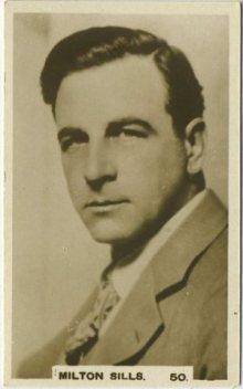 Milton Sills 1932 Hill tobacco card