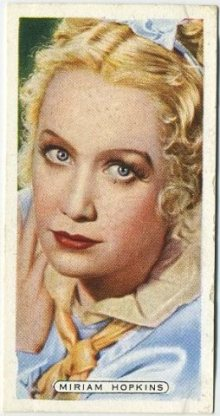Miriam Hopkins 1935 Ardath Tobacco Card