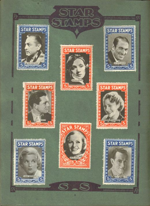 Page 1 of Star Stamps Album