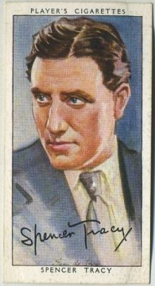 Spencer Tracy 1938 Players Tobacco Card