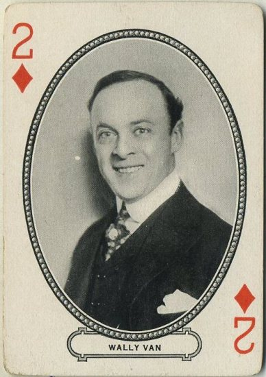 Wally Van circa 1916 MJ Moriarty Playing Card