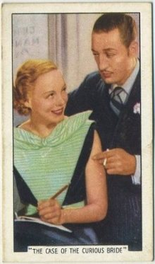 Claire Dodd and Warren William 1936 Gallaher Tobacco Card