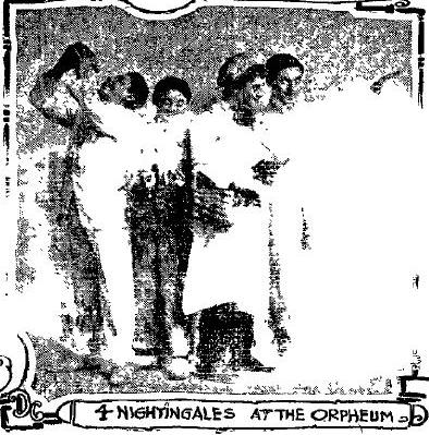 The Four Nightingales, 1909