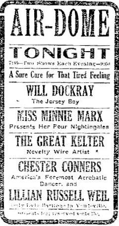 Marx Brothers 1909 ad as Four Nightingales