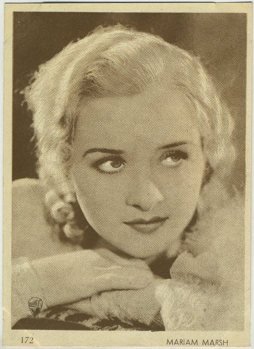 Marian Marsh 1930s Aguila Trading Card