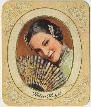 Helen Hayes 1930s Garbaty German Tobacco Card