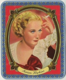Miriam Hopkins 1930s Garbaty German Tobacco Card