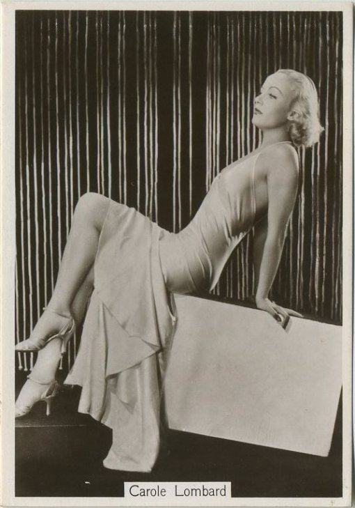 Carole Lombard 1930s Godfrey Phillips Modern Beauties Series 2 Tobacco Card