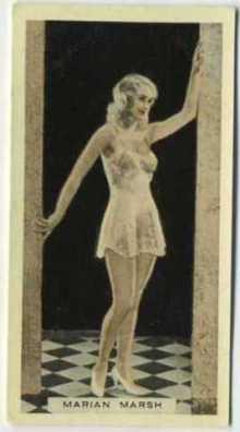 Marian Marsh 1933 Godfrey Phillips Tobacco Card