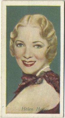 Helen Hayes 1934 Godfrey Phillips Tobacco Card