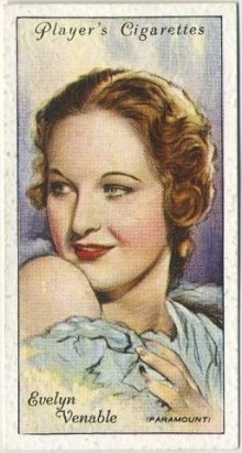 Evelyn Venable 1934 Player Tobacco Card