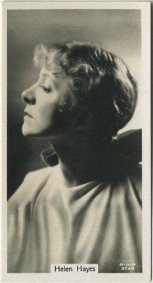 Helen Hayes 1934 John Sinclair Tobacco Card