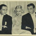Fredric March, Miriam Hopkins, Gary Cooper 1940 Tobacco Card