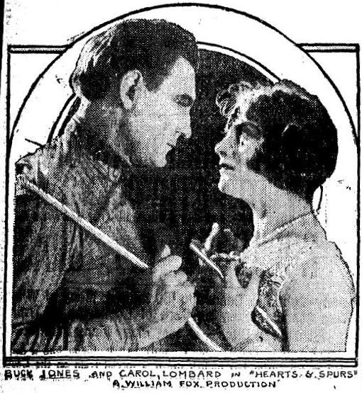 Carole Lombard and Buck Jones