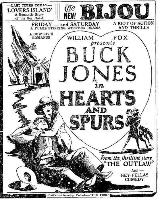 Ad for Hearts and Spurs