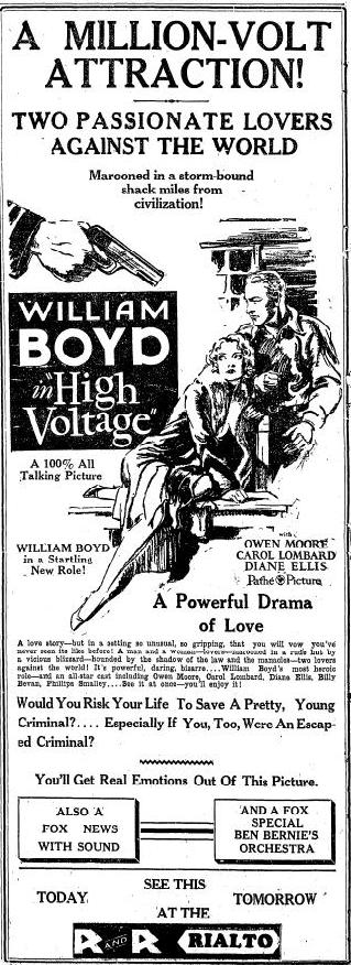 Ad for High Voltage