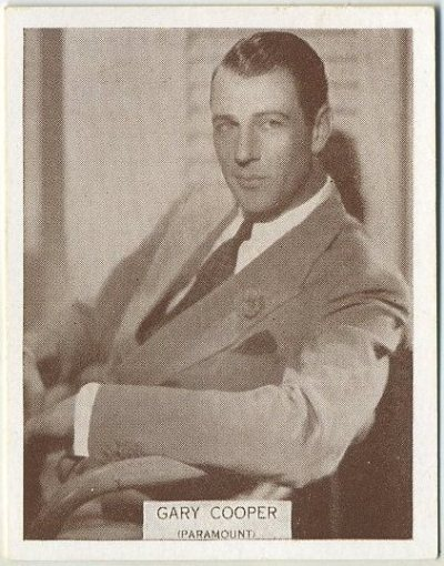 Gary Cooper 1934 Wills Famous Film Stars Tobacco Card