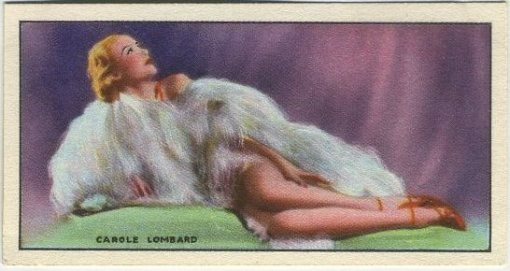 Carole Lombard 1940 Godfrey Phillips tobacco card