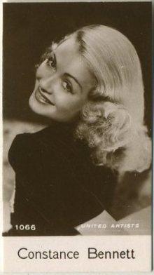 Constance Bennett 1940 De Beukelaer Trading Card