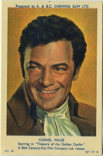 Cornel Wilde 1953 A&BC Trading Card