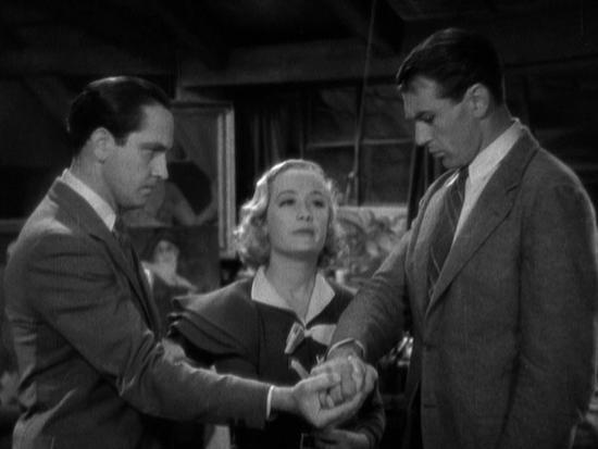 Fredric March, Miriam Hopkins and Gary Cooper