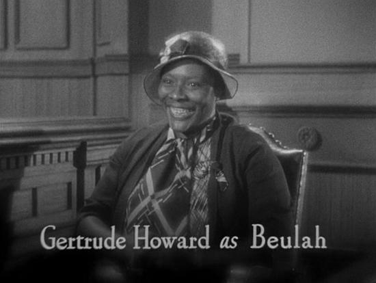 Gertrude Howard in I'm No Angel