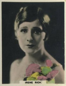 Irene Rich 1927 African Tobacco trading card