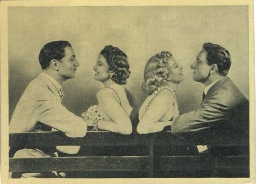William Powell, Myrna Loy, Jean Harlow and Spencer Tracy on 1940 Cinema Cavalcade Tobacco Card