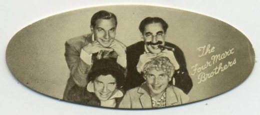 Marx Brothers 1934 Carreras Film Stars Tobacco Card