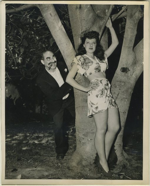 Groucho Marx and Fay McKenzie Press Photo