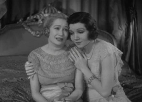 Miriam Hopkins and Claudette Colbert
